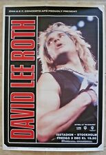 David Lee Roth 1988 Skyscraper Tour 24.5x35.5 Concert Poster 100% Real Stockholm