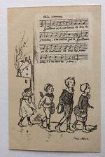 CPA. Illustrateur POULBOT. N°47. Ternois. Guillaum´ si tu continues...  Chant.
