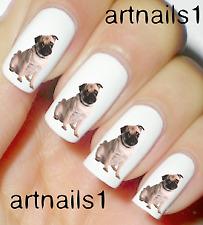 Pug Dog Puppy Nail Art Water Decals Stickers Manicure Salon Mani Polish Gift
