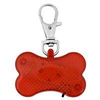 Pet Safety Hi Visibility  Flasher Dog Cat LED Light Collar Tag High Viz Bone