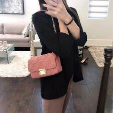 Michael Kors 30h8tsll1k Rose Sloan Quilted Leather Chain Flap Shoulder Bag