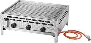 ACTIVA Grill 3-flammig Gastrobräter, 12kW, Grillrost, Gasgrill