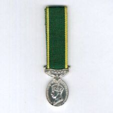 Miniature Efficiency Medal, George VI, 1st type 1937-1948 with Canada bar