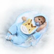 16 pouces Silicone Reborn Toddler Poupée Dormir Bébé Poupée Fille Yeux I9J7