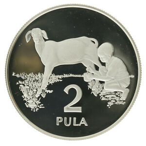 Botswana - Silver 2 Pula Coin - 'Save the Children Fund' - 1989 - Proof