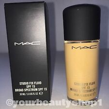 New Mac Foundation Studio Fix Fluid Foundation  SPF 15 NC35 100% Authentic
