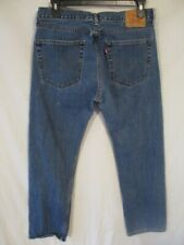 Levi's 505 100% Cotton 36  x 32  Med  Rinse Regular  Fit Blue Jeans