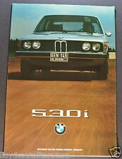 1975 BMW 530i Sales Brochure Folder Excellent Original 75