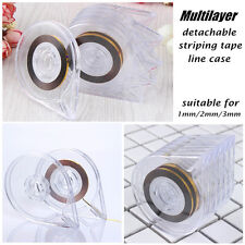 6Pcs Striping Tape Line Case Manicure Nail Art Decoration Organizer Box