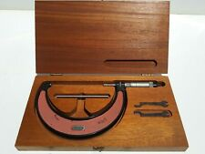 Starrett No. 436 4- 5in. Outside Diameter Micrometer in original wood case NICE!