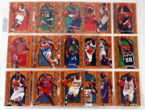 1995-96 Fleer Flair Hardwood Leaders Basketball Insert Set in Sheets (28) Jordan