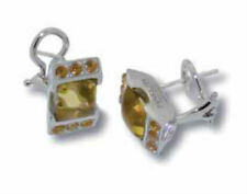 New Makuti Sterling Silver Citrine Earrings MKNOB211