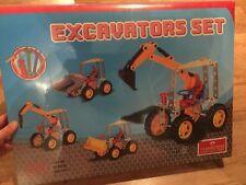 "Metal ""Lego"" - Classic Toys - Excavators Set 271 Pc - Very Rare"