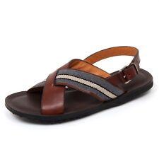 C9986 sandalo uomo CAR SHOE scarpa intrecciato marrone shoe man