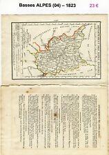 Dépt 04 - XIX ème Siècle Belle Petite Carte avec 2 Pages de Renseignements  1823