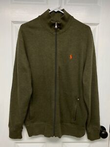 Ralph Lauren Polo Performance Mens L/S Full-Zip Cardigan Sweater Jacket: L Green