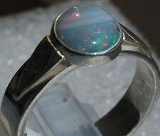 Feiner Brazil Opal 1.7 Karat 950er Silberring Größe 19,4 mm Unikat