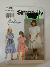 Simplicity 7008 Size 7-10 Girl's Dress Special Occasion Formal Dressy
