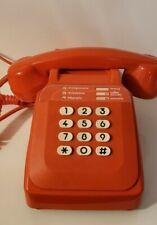 Téléphone de Collection / Rétro / Vintage S63 Orange à Touche des année 1970/80