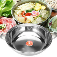 Stainless Steel Twin Double Hot Pot Cookware Shabu Induction Compatible  Y