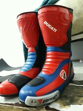 New Ducati Multicolor Motorbike Shoes Motorcycle Racing Leather Boots CustomMade