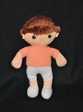 Peluche doudou poupée garçon brun AVENE XeraCalm A.D. rose gris 25 cm NEUF
