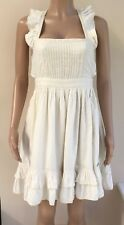 NEW Superdry Vintage Thrift Cream Frilled Dress Size L 12 - 14  #R2