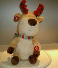 "Christmas Plush Animated Musical ""Jingle Bells"" Reindeer by Cuddle Barn 14"" T"