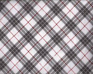 Flannel Queen Sheet Set Gray Striped Plaid 4pc Novelty Cottage Burgundy Diamond