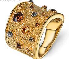 """Ring """"Belle Epoque"""" Gr.18,2 (57) Messing  Gelb Vergoldet Hochwertig EDEL"""