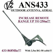 Aerial, Outdoor antenna V2 ANS433 for gate automation,433MHz - 868MMHz, 50 Ohm