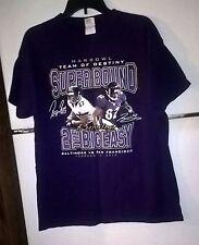 RAVENS TEE SHIRT Purple, Ray Rice/Torrey Smith HARBOWL SUPERBOWL XLVII. Size L