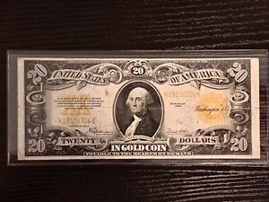 RARE 1922 $20 GOLD NOTE! FR-1187 Gorgeous In Every Way! Great Color
