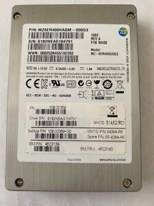 """IBM/NETAPP 400GB SSD SAS 2.5"""" HDD MODEL: MZ-6ER4000/0G3 P/N: 46C3139 , X438A-R6"""