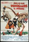 ONE OF OUR DINOSAURS IS MISSING Original One sheet Movie Poster Peter Ustinov