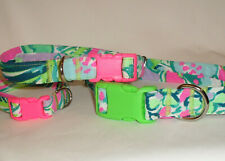 Handcrafted Lilly Pulitzer Multi Early Bloomer Dog Collar-All sizes -Free Ship
