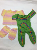 Vintage Cabbage Patch Doll Clothing Lot Green Tracksuit 1985 Sweater Leggings