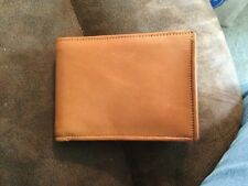 Mens Naked Napa Leather Wallet Beige Fox Boro