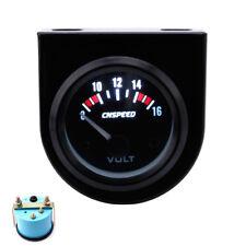 2'' 52mm Mechanical Car Auto Volt Voltmeter Voltage Meter Gauge LED 8-16V