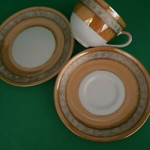 HAND PAINTED & GILDED LUSTER NORITAKE TRIO