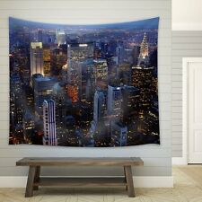 wall26 - New York City at Night - Fabric Tapestry, Home Decor - 51x60 inches