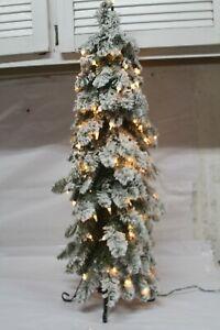Bethlehem Lights 3' Slim Flocked Downswept Decorator Tree RTL$76 CLEAR