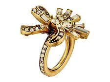 NIB $295 Oscar de la Renta Floral Baguette Ring