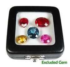 12 PCS OF TOP GLASS DISPLAY BOX JEWELRY GEM DIAMOND 5.8x5.8 CM QUALITY FREE SHIP