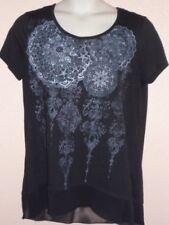 FADED GLORY. LADIES  BLACK FANCY SHIRT   SIZE  XXL 20