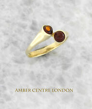 Italian Made Elegant Stylish Baltic Amber Ring in 9ct Gold-GR0103  RRP £190!!!