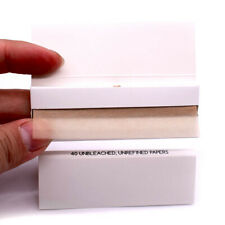 Plain White Box Unbleached HEMP Rolling Papers 77*45mm 10 Booklets=400 leaves