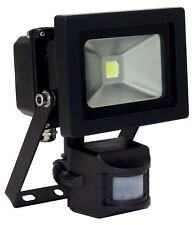 Black LED Floodlight 10W with PIR sensor - 600 lumen