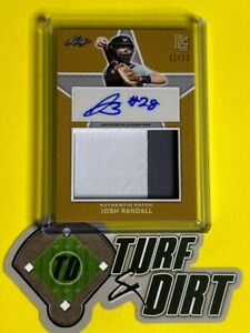 2020 Leaf Perfect Game National Showcase Patch Auto Gold JOSH RANDALL #11/12