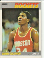 Akeem Olajuwon Houston Rockets 1987-88 Fleer Basketball Card #80